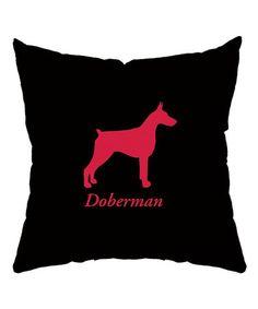 Loving this Black 'Doberman' Throw Pillow on #zulily! #zulilyfinds