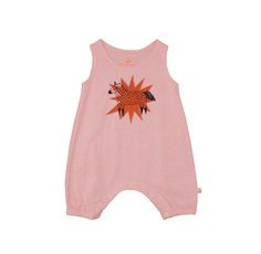 Noé & Zoë SS 16 - Baby tank overall in peach with unicorn http://www.noe-zoe.com/Collections/SS-16/