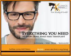 Get Beard Transplant and Facial Hair Transplant Solution at AKClinics center in Delhi, Ludhiana and Bangalore ( India ) by experienced surgeon at minimal cost.