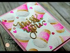 SSS Miss You Card | Zig Clean Color Markers-YouTube. (SSS Coffee, Tea and Cocoa stamp set).