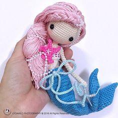 Sirena mermaid sirène crochet amigurumi