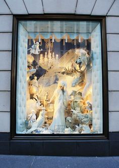 The Christmas window at Bergdorf's. I absolutely love viewing the Christmas windows in major cities. I was in Chicago for Christmas last year & the windows were breathtaking! Christmas Window Display, Christmas Decorations, Christmas Windows, Christmas Time, Vintage Christmas, Christmas Ideas, Merry Christmas, New York, Chicago Style