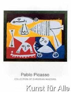 Pablo Picasso - Mère et enfants jouant