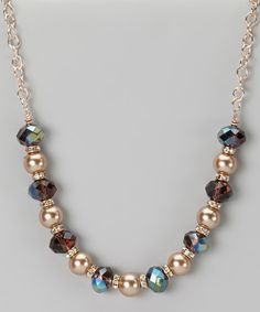Take a look at this Gold & Cocoa Pearl Bead Necklace on zulily today!