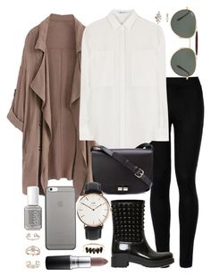 Untitled #595 by clary94 on Polyvore featuring polyvore T By Alexander Wang Wolford Valentino A.P.C. Loren Stewart Daniel Wellington Topshop Ray-Ban Native Union MAC Cosmetics Essie fashion style clothing