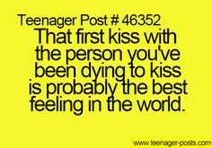 It was the first kiss ever, tho