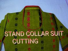 Stand collar suit cutting - YouTube