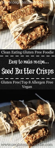 When can have peanut brittle due to multiple food allergies then you make these top 8 allergen free Seed Butter Crisps. The flavor is rich with a light crisp to these treats. They are good for the holidays and for the kids' lunch boxes. This recipe is gluten free, vegan, dairy free, soy free, wheat free, nut free and peanut free. Easy to make with no refined sugars and 21DF approved.