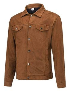 Suede Leather Military Jacket Men NRUTUP Slim Fit Winter Jacket Button Down Shirt Jacket Business Work Casual Outwear Latest Mens Fashion, Business Casual Outfits, Jacket Buttons, Shirt Jacket, Jacket Men, Work Casual, Military Jacket, Winter Jackets, Shopping