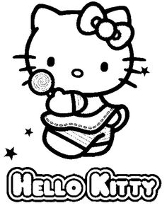 Hello Kitty Coloring Page