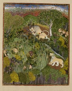 Image of raja durjan sal of kota hunting lions. kota, india, 1778 by V&A Images Pichwai Paintings, Mughal Paintings, Indian Paintings, Abstract Paintings, Art Indien, Art Asiatique, Art Populaire, Les Religions, Indian Folk Art