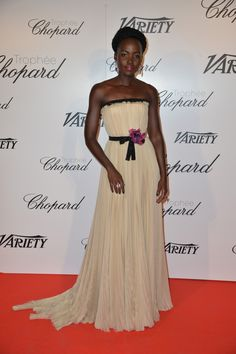 Lupita Nyong'o in Gucci at the Trophée Chopard event, #Cannes #2015