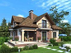 Proiect de casa cu mansarda si balcon