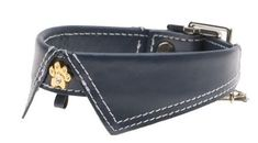 Hamish McBeth designs and manufacturers a stunning line of drool-worthy leather dog collars.