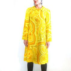 Yellow Psych Coat, $136, now featured on Fab.  it been sold but it so cool!