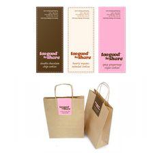 Too Good To Share Bakery Branding & Packaging by Eric Schmidt, via Behance