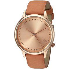 KOMONO Estelle Classic Analog Display Japanese Quartz Seashell Watch (€85) ❤ liked on Polyvore featuring jewelry, watches, sea shell jewelry, quartz jewelry, analog wrist watch, komono and komono watches