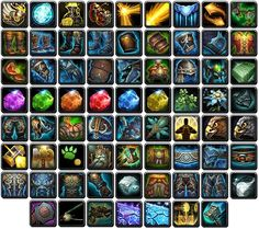 Various WoW:MoP icons