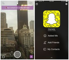 Mashable #Snapchat Account