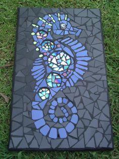 mosaic seahorse by Linda Simmons