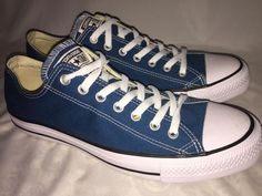 Converse Teal Blue Canvas Tennis Mens Athletic Shoes 11 And 13  | eBay