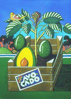 Illustration by John Alcorn (1935-1992), 1973, Avocado.