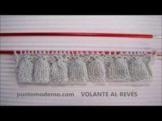 VOLANTE TEJIDO (AL REVÉS) - YouTube