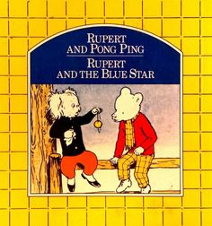 Rupert and Ping Pong - Rupert and the Blue Star illust Alfred Bestall used PB for sale online Line Friends, Coloring Books, Picture Books, Stars, Blue, Vintage Coloring Books, Sterne, Coloring Pages, Coloring Book