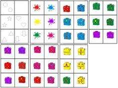 matrix naar school: kleur boekentas combineren met figuur
