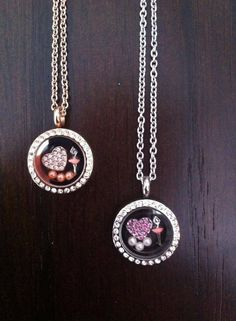 Rose Gold Mini South Hill Designs Locket with a Rose Gold Crystal Heart charm, 3 pack Pink Pearl Accents and a Ballerina charm, Silver Mini with Pink Crystal Heart charm, 3 Pack Vanilla Pearls and Ballerina charm,  these beauties can be purchased threw me at http://southhilldesigns.com/andreabrindley