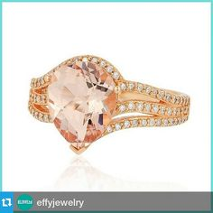 #Repost @effyjewelry ・・・ Pear-cut Morganite in rose gold, a ring of breathtaking beauty. ‪#‎HappyMonday‬  #Monday #pink #romance #jewelry #jewelry #style #effyjewelry