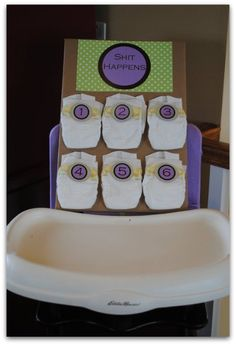 "This Game Is Actually Called ""Dirty Diapers""...Click On Picture To See How To Play This And 20 Other Baby Shower Games..."
