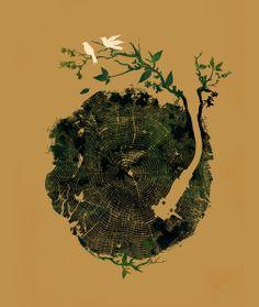 Nature's Choir Art Print #nature #tattoo #design #record #tree