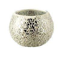 ASDA Tealight Holder - Silver Mosaic   Candles u0026 Holders   ASDA direct -  £3.00