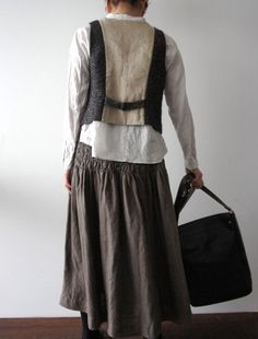 Smocked skirt by Lisette. The vest is already sold out :(