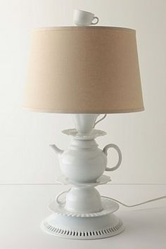 Make Anthropology style lamp & great tutorial on how to drill glass and ceramic.