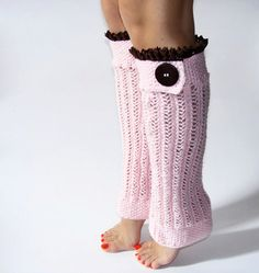 Pink Lace Leg Warmers Knit leg warmers Boot by GrandmasWarmYarn Leg Warmers For Women, Boots With Leg Warmers, Knit Leg Warmers, Soft Pink Color, Winter Leggings, Sewing Stitches, Women Legs, Girly Outfits, Pink Lace