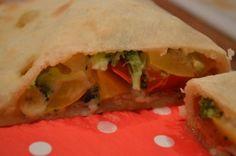 Pizza Calzone met groenten; Gezond en lekker eten!