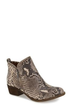 Lucky+Brand+'Bartalino'+Stud+Embossed+Leather+Bootie+(Women)+available+at+#Nordstrom