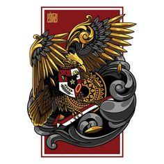 Garuda indonesia illustration, tattoo and tshirt design Premium Vector Design Vector, Art Design, Logo Design, Png Vector, Vector Art, Logo Esport, Indonesian Art, Batik Art, Tattoo T Shirts