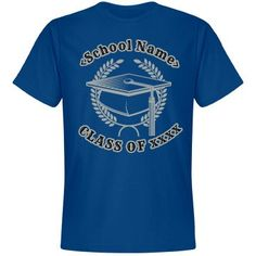 *Customize with school name or text of your choice. Select your choice of logo & text colors. Graduation Logo, Class Of 2016, Party Napkins, Best Gifts For Men, School Colors, Text Color, Party Printables, Tees, Shirts