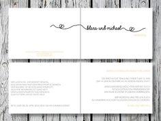 Individuelle Hochzeitseinladung | Endless Love von for magic moments auf DaWanda.com