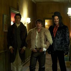 Taika Waititi, Jemaine Clement, and Jonny Brugh in What We Do in the Shadows (2014) - Click to expand