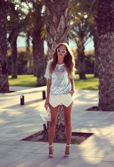 Sparkly summer look // #sequins