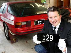 GREAT INVESTMENT: Stewart Kay is selling rare number plates in an online auction. Picture: Dylan Coker