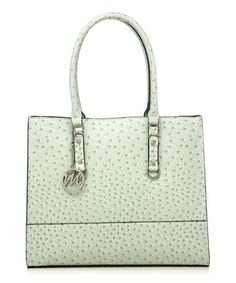 Another great find on #zulily! Mint Ostrich Kimberley Tote by emilie m. #zulilyfinds