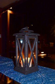 Lantern on the table