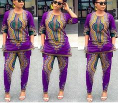 Dashiki top and pants set african clothing african by HouseOfIzzi