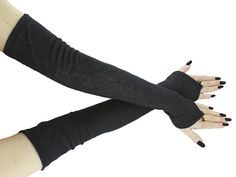 Black extra long fingerless gloves arm warmers in gothic burlesque vintage or bohemian style womens evening gloves gothic wedding by FashionForWomen USD) Gloves Fashion, Wedding Gloves, Black Gloves, Gothic Fashion, Fingerless Gloves, Arm Warmers, Cool Outfits, Telephone Number, Gothic Lolita