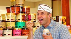 Chet the scooper at The Blue Bell Creamery - Brenham, TX